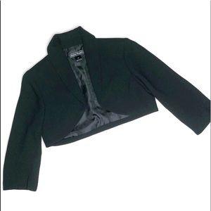 Jessica Howard Bolero Jacket Blazer Black Grey